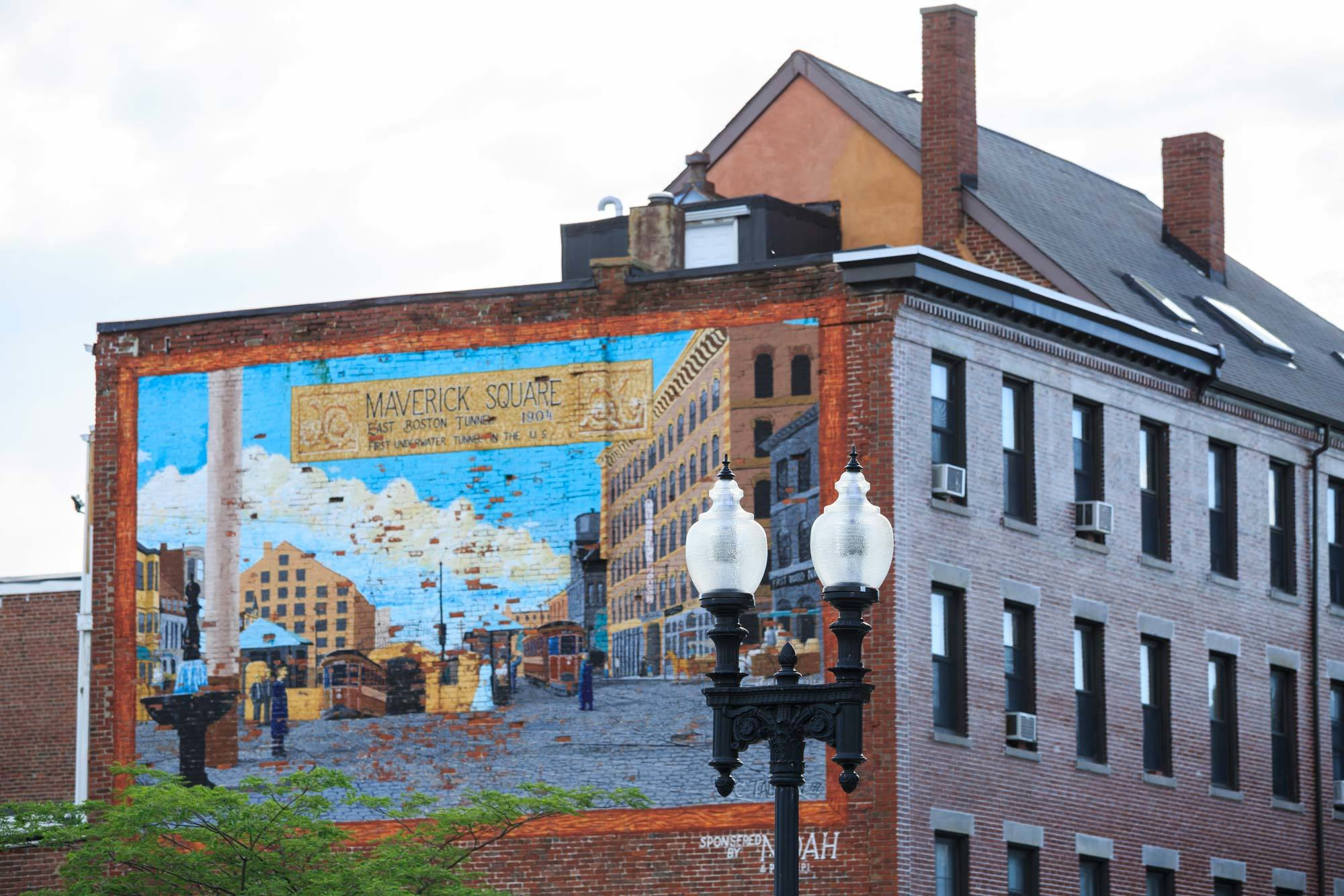 East Boston Maverick Square mural