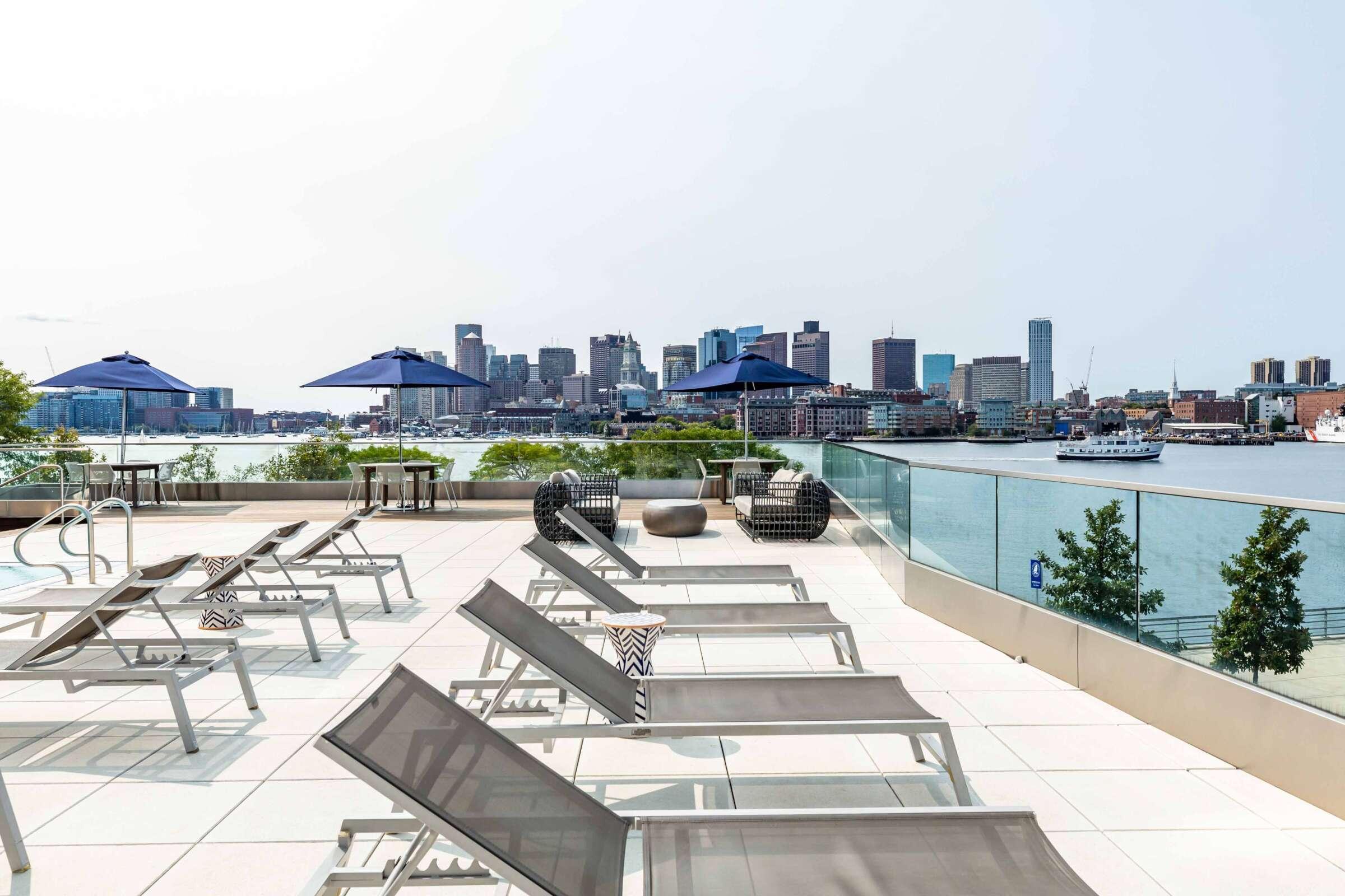 The Eddy East Boston Apartments Amenities 17 pool deck