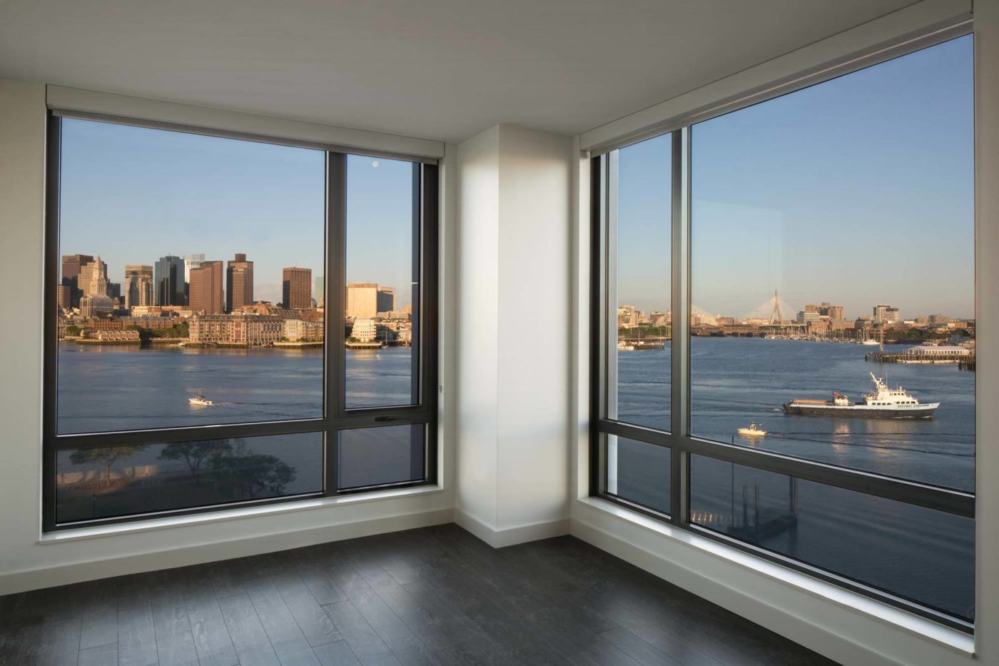 Eddy East Boston model unit with views of water