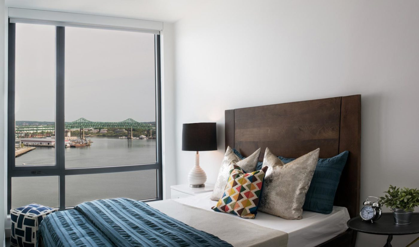 Eddy East Boston apartment bedroom with views
